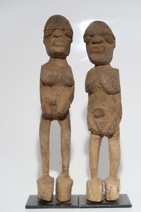 Estatua - Madera - Lobi couple - Lobi - Burkina Faso
