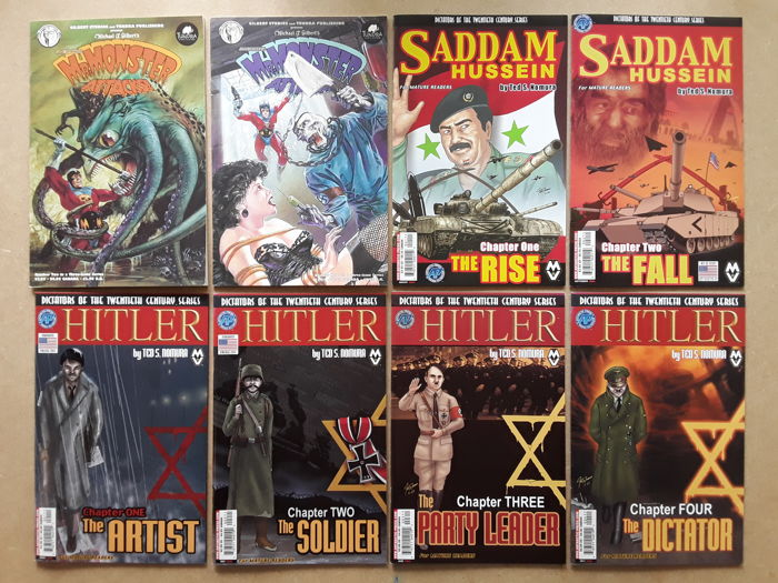 Lot of Complete Series- 48X  Odd Tales of Strange Characters - Dictators of the Twentieth Century Saddam Hussein, Hitler, Street Sharks, Amy Racecar and more - Softcover - First edition - (1991/2004)