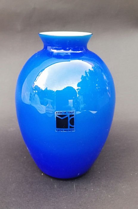 Carlo Moretti - Glass object - Glass (stained glass)