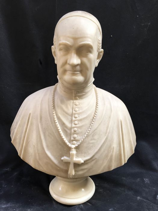 Bust, Pope (1) - Marble - Second half 19th century