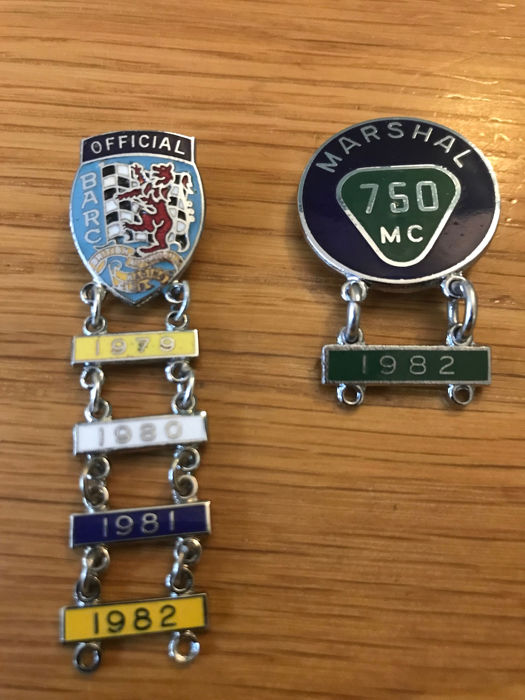 BARC 1970s Official Marshal Badges rare.  - BARC 1970s Official Marshal Badges rare.  - 1979-1982
