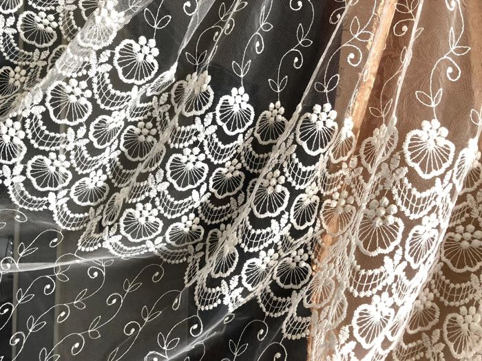Lovely tulle thread embroidery with lurex! - Textiles