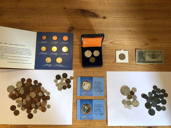 Pays-Bas - lot met 100 + items Wilhelmina, Juliana, Beatrix vanaf 1941-2005 - Argent, Bronze, Cuivre, Zinc