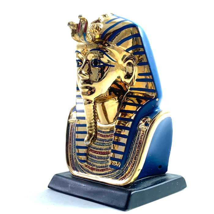 "Franklin Mint - The Treasure of King Tutankhamun ""Gold Funerary Mask"" - .999 (24 kt) goud, Porselein"