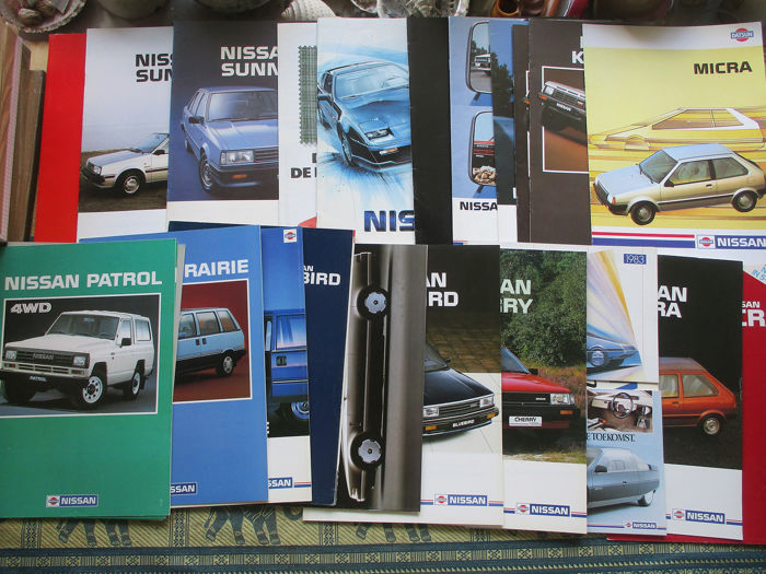 Brochures / catalogues - Nissan - including Bluebird/Cherry/Laurel/Sunny - 1983-1988