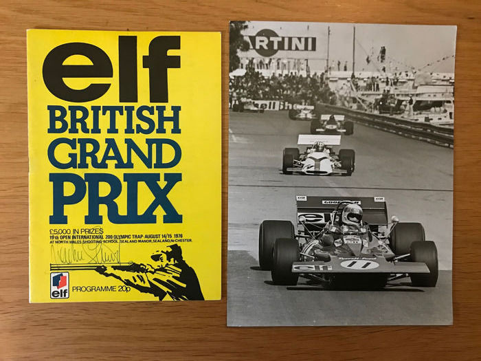 Tyrrell  - Formula One -  Jackie Stewart Signed programme Twice and Photograph  - 1976 - Photograph