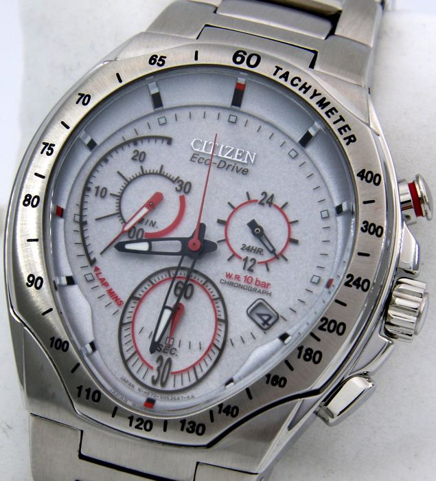 "Citizen - Eco Drive Chronograph Sport Race ""Ice Dial"" - Heren - 2011-heden"