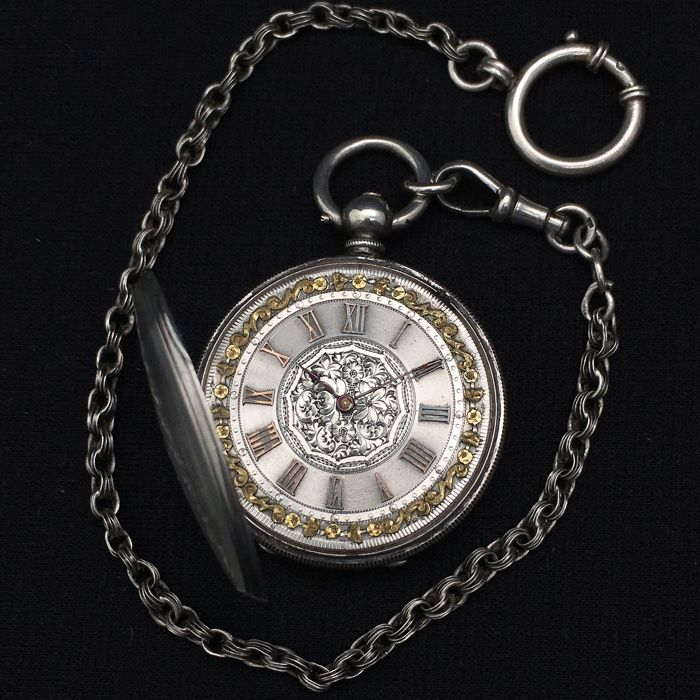 S & Co. - Silver Pocket watch - NO RESERVE PRICE - Unisex - 1850 - 1900