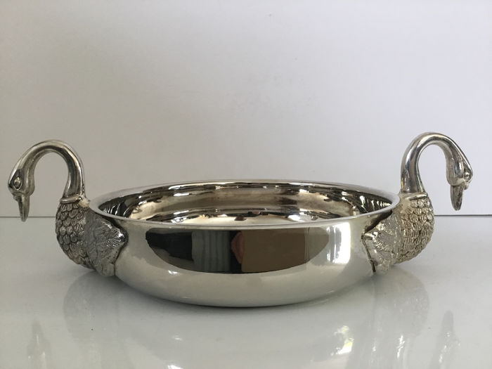 Beautiful Silver Plated Decorative Bowl With Elegant Swan Catawiki