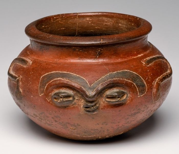 Pottery - Face bowl - Nicoya culture - Costa Rica