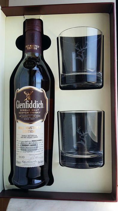 Glenfiddich Malt Master´s Edition - Giftset with two glasses - 70cl
