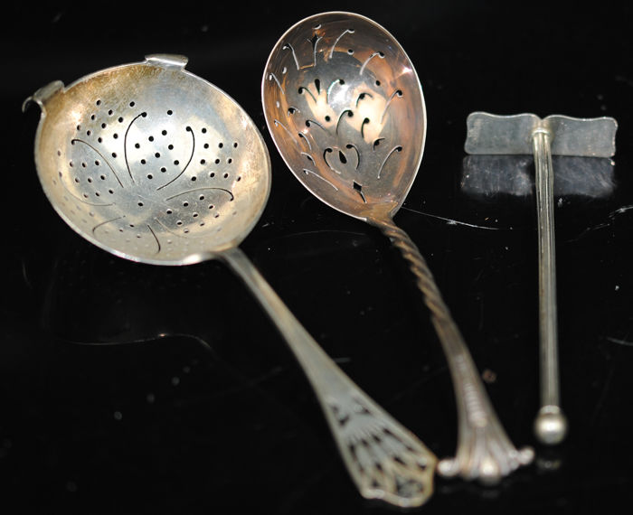 Selection of Tableware (3) - .800 silver, .925 silver - UK and Germany - Early 20th century