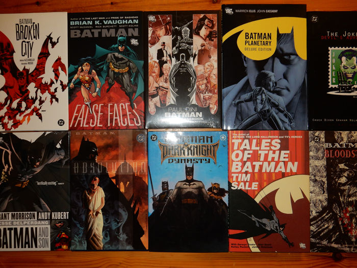 Batman - Lot van 10 Trade Paper Backs - 10x hardcover met stofomslag - First edition - (1994/2011)