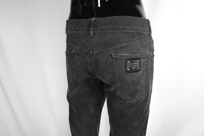 Dolce & Gabbana - Straight Cut G8153 Jeans, Black Washed Edition - Size: XL - IT52 - W33/34