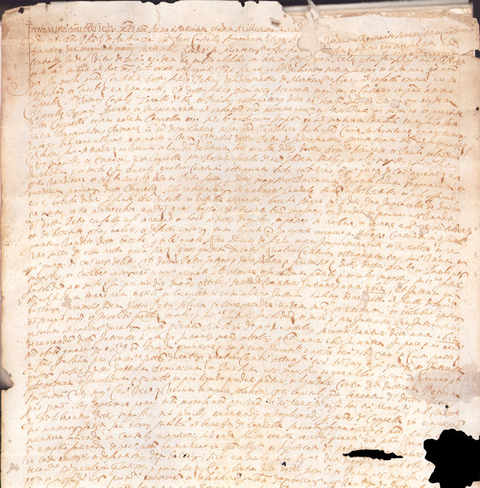 Notary; King Philip III of Spain - Manuscript; Real Estate Purchase with Signum Tabellionis on Vellum - 1611