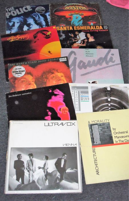 Police, Boston, Ultravox etc - Diverse artiesten - Famous Bands from the 70's and 80's - Diverse titels - LP's - 1976/1984