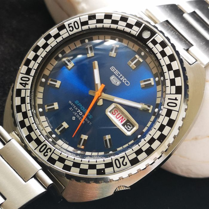 Seiko -  Blue Sports Speed Racing *Rally Diver* - Automatic Watch - Herren - 1970-1979