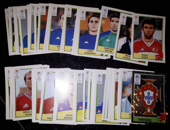 Panini - 60 different original stickers Euro 2000