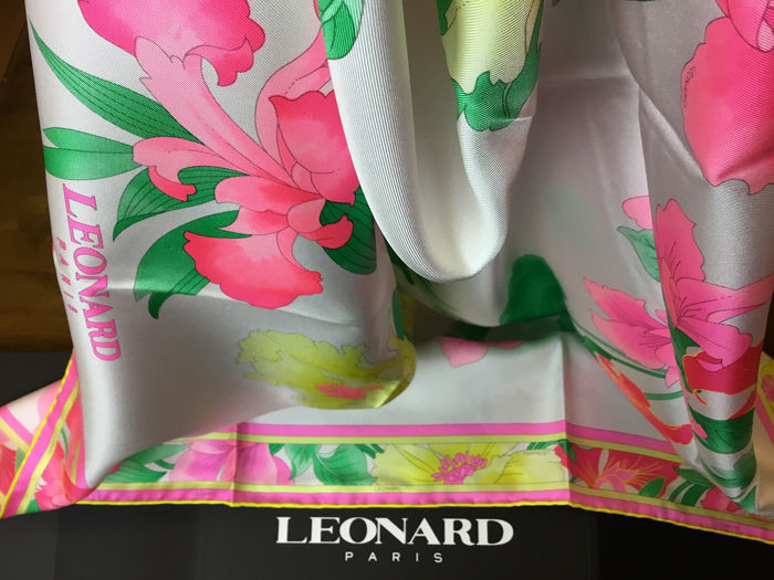 Leonard Paris New Silk Scarf
