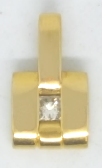 18 kt. Yellow gold - Pendant - 0.15 ct Diamond