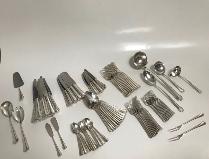 Complete cutlery (107) - Silverplate - Germany - Early 20th century
