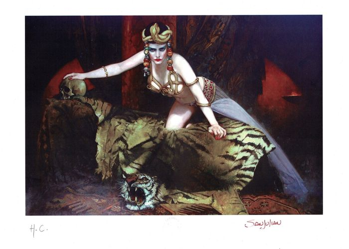 MARILYN MONROE AS THEDA BARA (Cleopatra) - H.C. Giclée Signed By Sanjulian - First edition