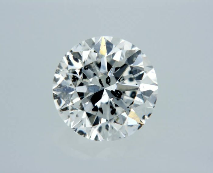1 pcs Diamond - 0.56 ct - Στρογγυλό - F - SI3