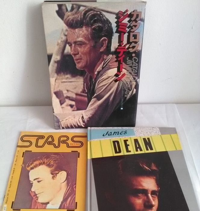 James Dean - Lot with 3 books - 1980/1985