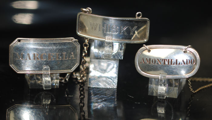 Bottle Tags - Silver plated