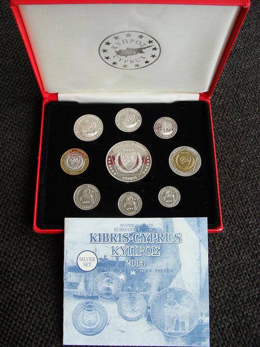 Cyprus - 2004 Pattern/Probe set in zilver uitvoering - Silver