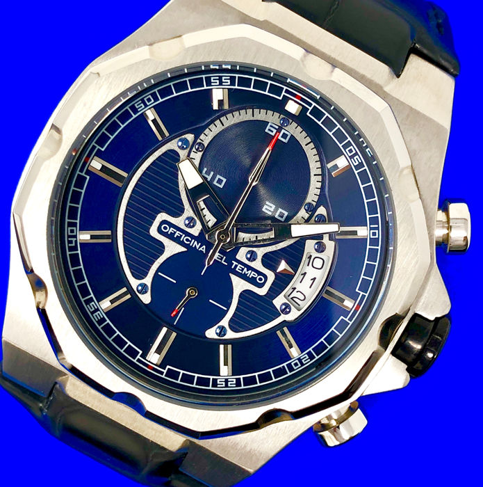 "Officina del Tempo - New Race Limited Edition Chronograph Blue Dial  - OT1041 ""NO RESERVE PRICE"" - Men - 2011-present"