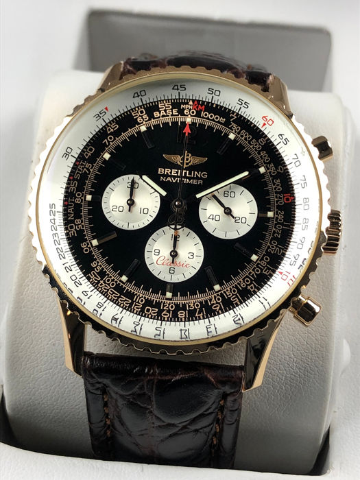 Breitling - Navitimer Chronograph Automatic Limited Edition 100pc 18K Gold - H30330 - Men - 2000-2010
