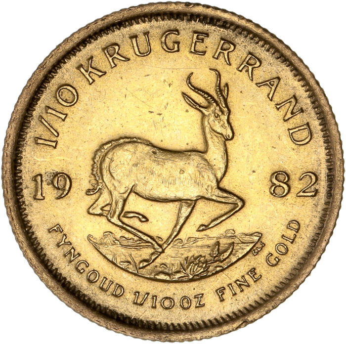 South Africa - 1/10 Krugerrand 1982 - 1/10 oz - Gold