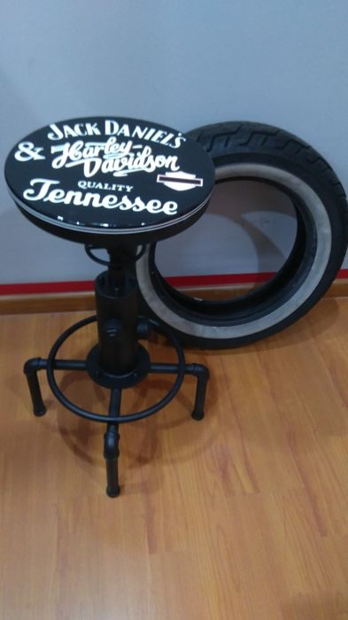 Pleasing Stool Stool Jack Daniels Harley Davidson 2019 Caraccident5 Cool Chair Designs And Ideas Caraccident5Info