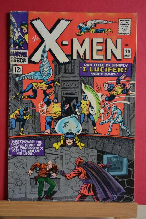 """X-Men #20 - X-Men the most unusual fighting team of all time! """"I, Lucifer.."""" - Softcover - First edition - (1966)"""