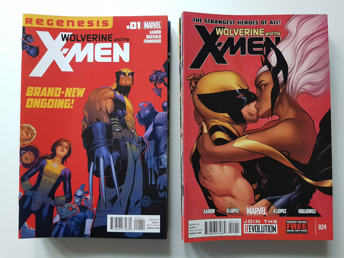 Wolverine And The X-men - Issues #1-42 Complete Set + #27AU + Annual #1 - First edition