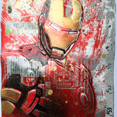 ComicCAN - ORIGINAL Artwork By Chris Duncan - IRONMAN on COKE Can - KUNST - (2019/2019)