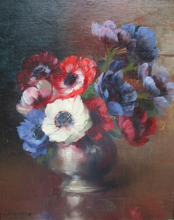 Julien Stappers ( 1875 - 1960 ) - Anemonen