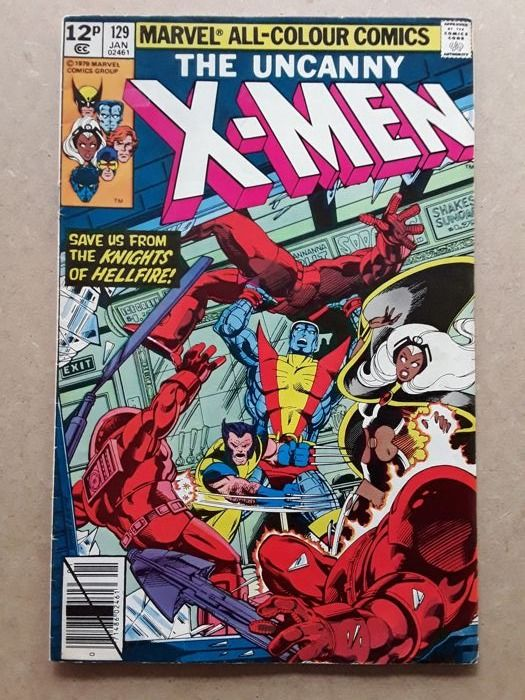 Uncanny X-Men #129 Mid to High Grade  - 1st appearance Kitty Pryde, Emma (White Queen) Frost, Sebastian Shaw, Donald Pierce, Hellfire Club  - Softcover - First edition - (1980/1980)