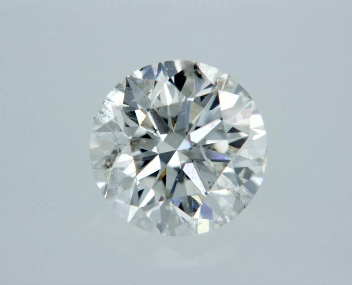 1 pcs Diamant - 0.50 ct - Rond - G - SI3