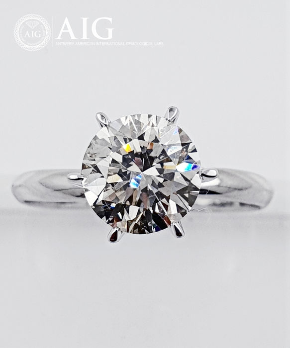 14 kt. Gold - Ring - Clarity enhanced 2.27 ct Diamond