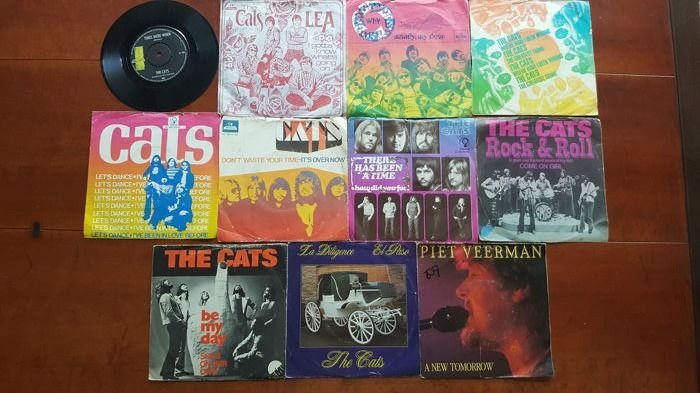 "The Cats - 11 x 7"" singles  - Diverse titels - 45-toerenplaat (Single) - 1968/1987"