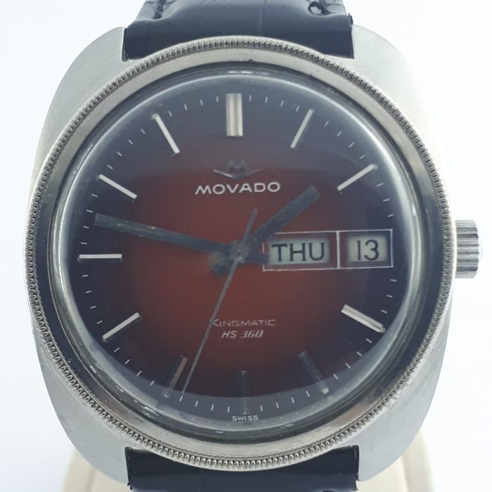 "Movado - Kingmatic HS 360 Rare Spider Dial - ""NO RESERVE PRICE"" - Men - 1970-1979"