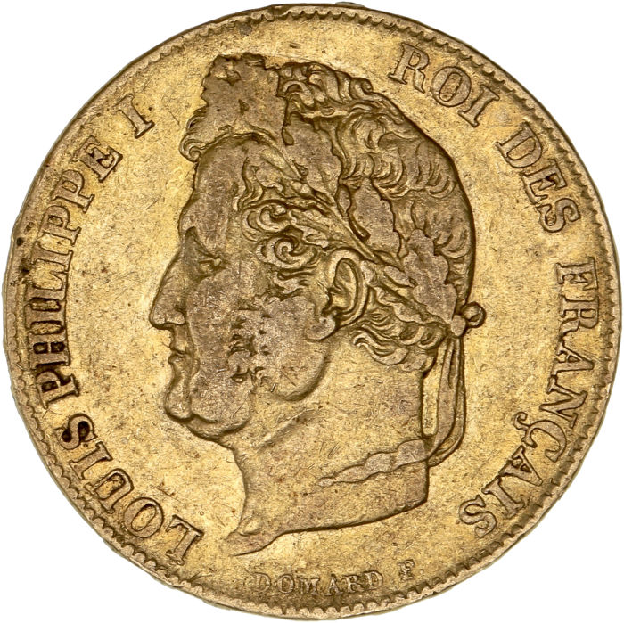 France - 20 Francs 1840-A Louis-Philippe I - Or