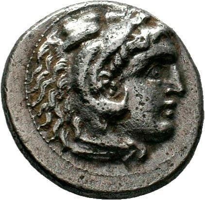 Greece (ancient) - Kings of Macedon. AR Drachm, Alexander III (336-323 BC). Posthumous issue of Miletus, ca. 300-295 BC - Silver