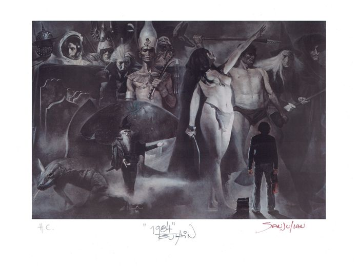 1984 Magazine #50 Cover - Selecciones Ilustradas - H.C. Giclée Signed By Sanjulian - First edition
