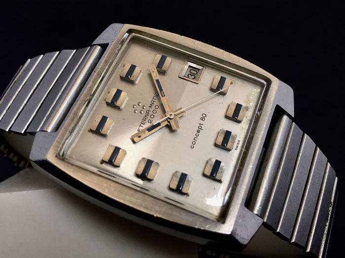Eterna-Matic - Concept 80 Automatic 2000 - Clamshell Case - Uomo - 1970-1979