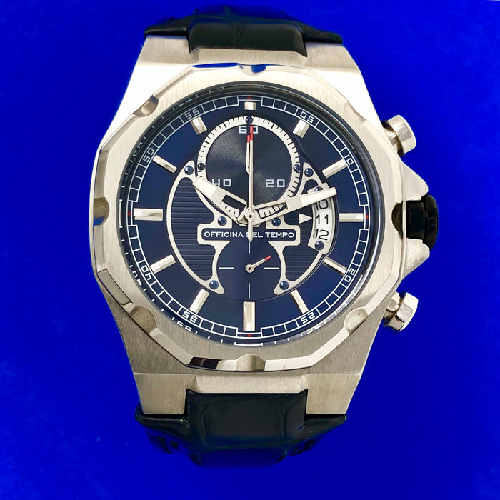 "Officina del Tempo - New Race Limited Edition Chronograph Blue Dial  - OT1041 ""NO RESERVE PRICE"" - 男士 - 2011至今"