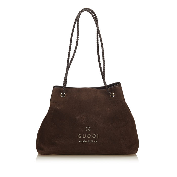7eed91d5e Gucci - Nubuck Leather Tote Bag Tote Bag - Catawiki
