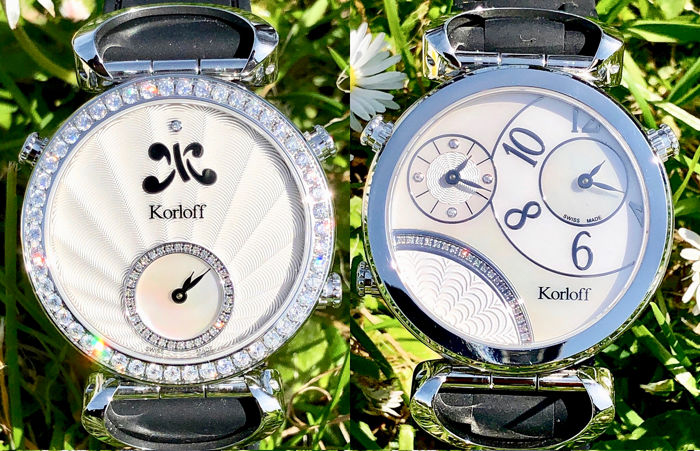 Korloff - Diamonds GMT Reversible Watch 1.74 Carat Swiss Made  - MTZLKD - Femme - BRAND NEW